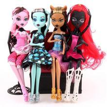 Высокое качество модные куклы монстр Дракулаура/клаудин Волк/франки Штайн/черный wydowa паук подвижное тело Игрушки для девочек подарок