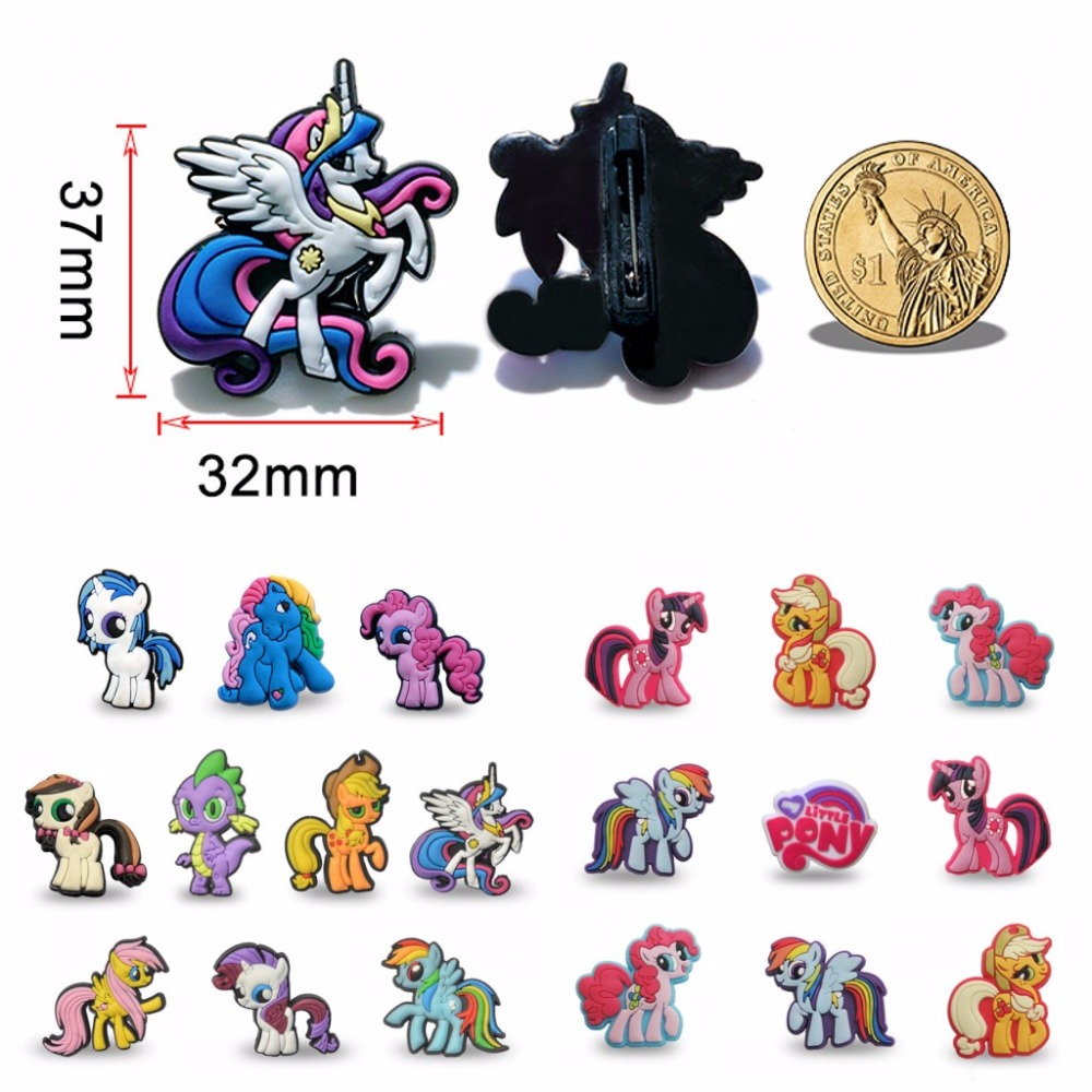 100pcs Mini Anime Pins Button Badges Cute PVC Cartoon Figure Icon Brooch Button Badge Backpack Clothes Hat Decor Kids Xmas Gift in Brooches from Jewelry Accessories