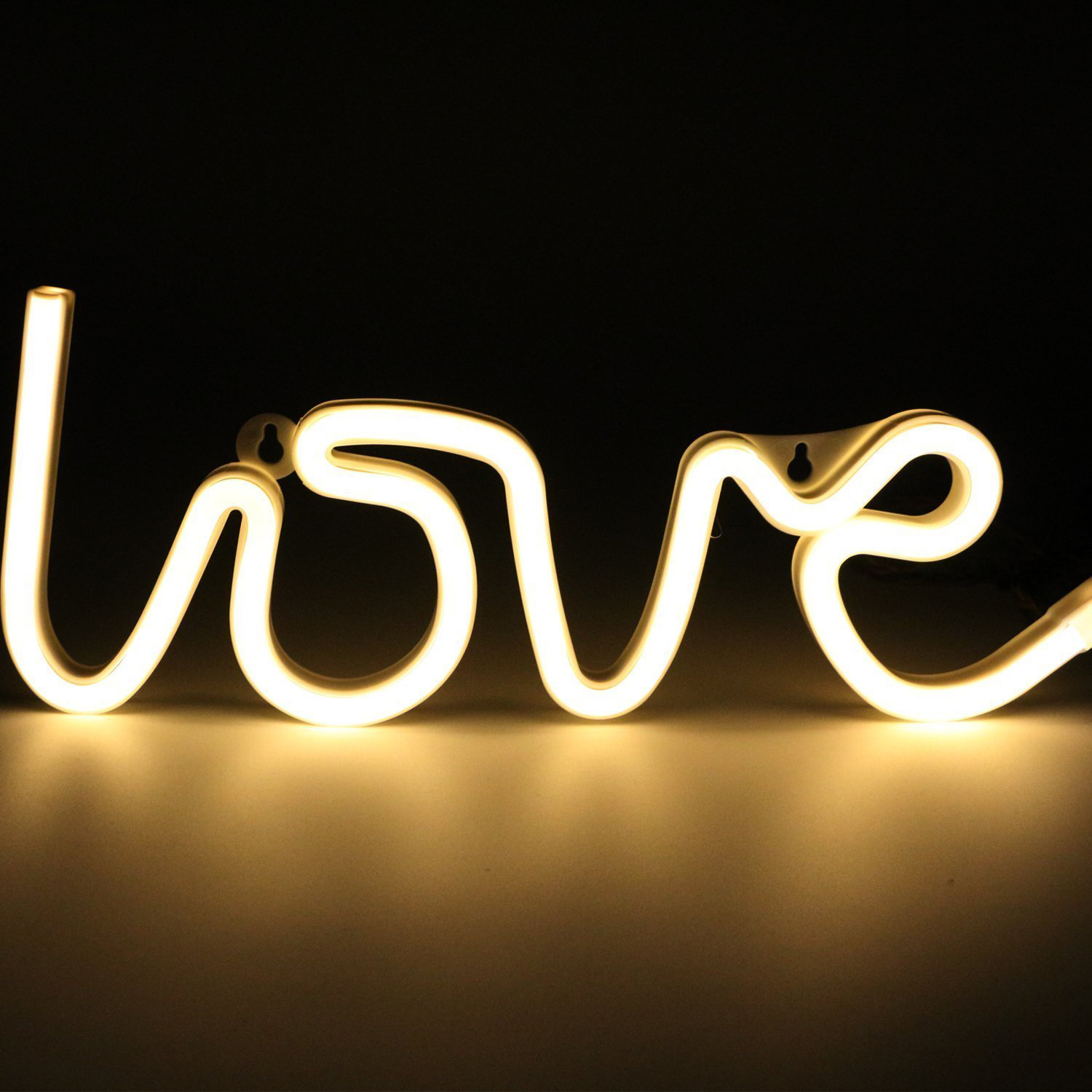 Party LOVE Letters Shape LED Night Light Wall Hanging Neon Light for Festival Party Wedding Decor Lighting Bulb