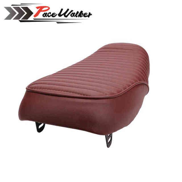 FREE SHIPPING New brown  pup flat seat cb200  cb350 cb400ss cb500 CB750 Sr400 SR500 XJ XS KZ seat of motorcycle