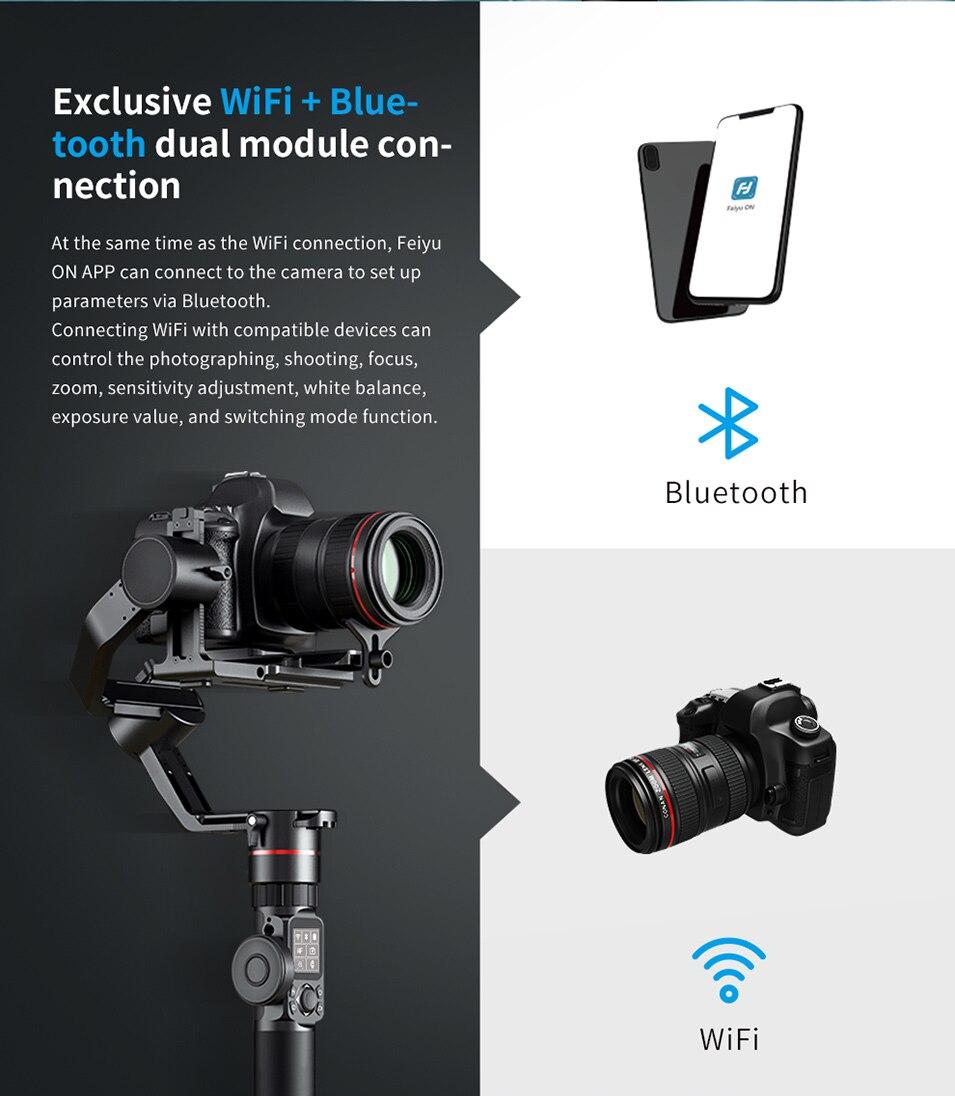 Feiyutech Feiyu AK4000 AK00 3-Axis DSLR Stabilizer Follow Focus Handhel Video Gimbal for Sony Canon Panasonic Nikon cameras 23