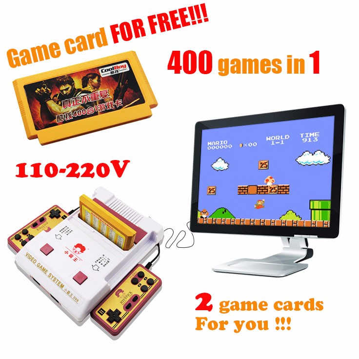 ФОТО Subor D99 Game Machine Nostalgic original video games console player with free 400 games play card original TV game player