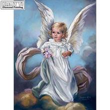 Алмазная картина ангел ретро diy 5d полная пачка сверл вышивка