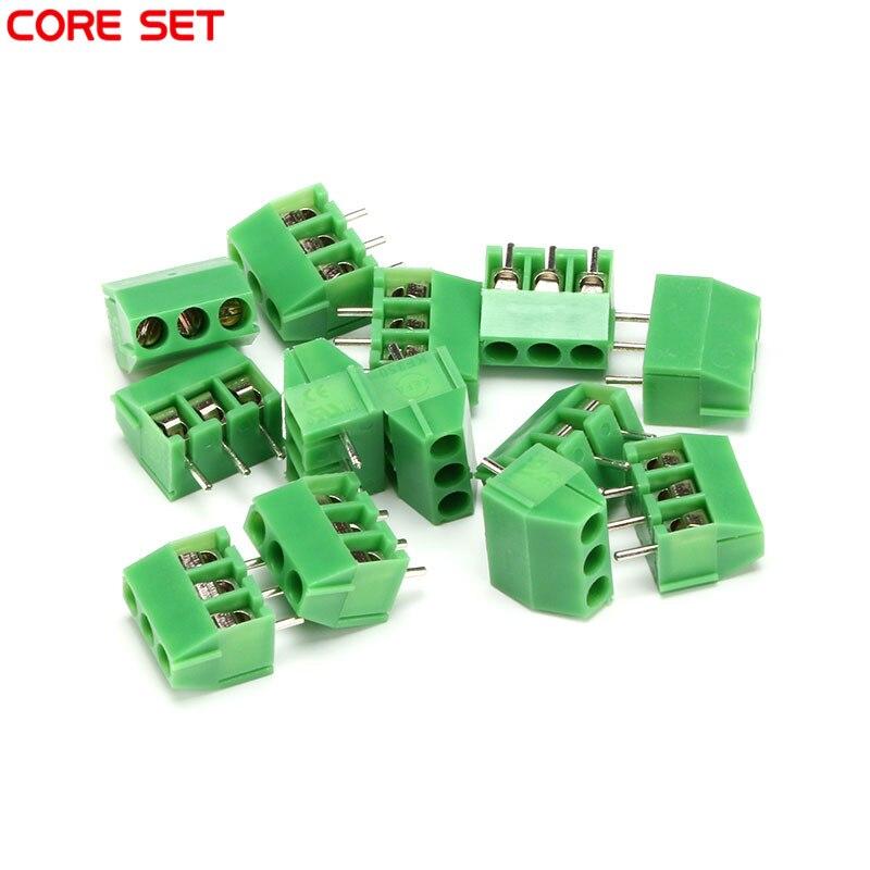 10Pcs/Lot KF350 3Pin 3.5mm pitch PCB Screw Terminal Block Connectors 300V/10A 20 pcs 126 3p 3pin 5mm pitch screw terminal block 300v 10a