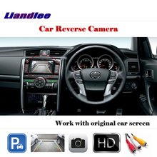 Liandlee Auto Rearview Parking Camera For Toyota Reiz  Mark X 2012-2015 / Rear View Backup Camera Work with Car Factory Screen mgoodoo new rear view backup camera parking assist camera 86790b1100 for toyota 86790 b11000