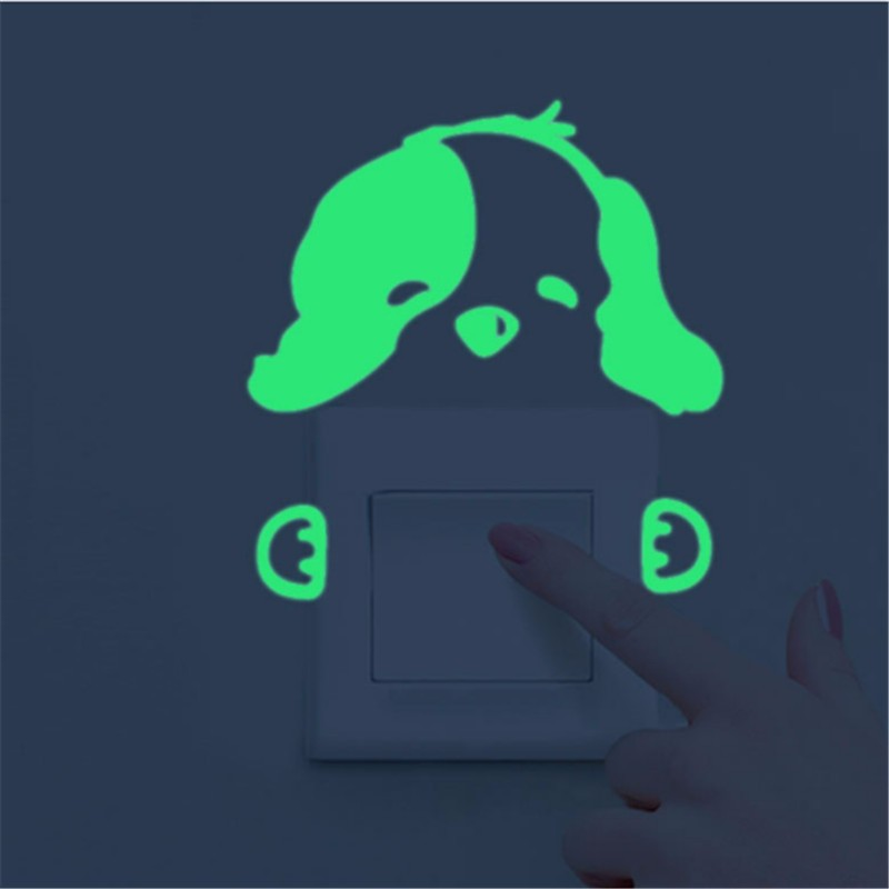 Luminous Stickers Sleepy Cat/Star Moon Glow in the Dark DIY Switch Sticker Luminous Stickers Sleepy Cat/Star Moon Glow in the Dark DIY Switch Sticker HTB1ZumGOXXXXXXOaXXXq6xXFXXX6