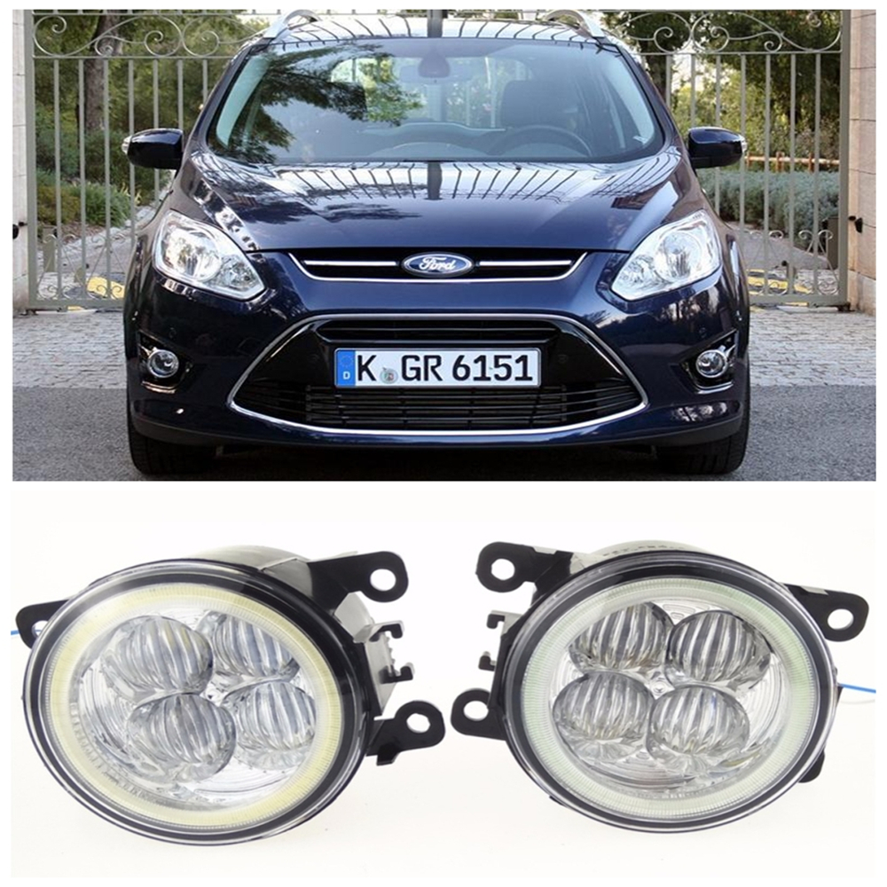 For FORD GRAND C-MAX MPV  2010-2015 10W high brightness LED Angel eyes fog lights Car styling fog lamps novline autofamily ford grand c max 2010 цвет серый