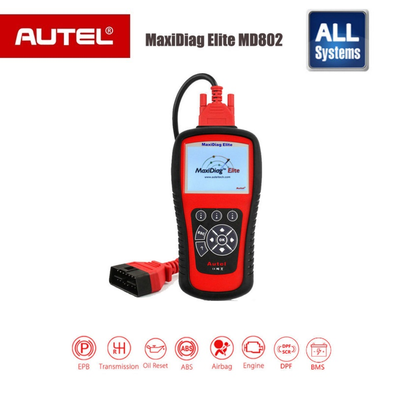 AUTEL MaxiDiag Elite MD802 car-detector All system + auto scanner MD802 PRO (MD701+MD702+MD703+MD704) diagnostic tool