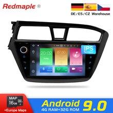 Android 9,0 автомобильный dvd-плеер gps навигация Мультимедиа Стерео для HYUNDAI I20 2015 Авто Радио Аудио wifi головное устройство Bluetooth
