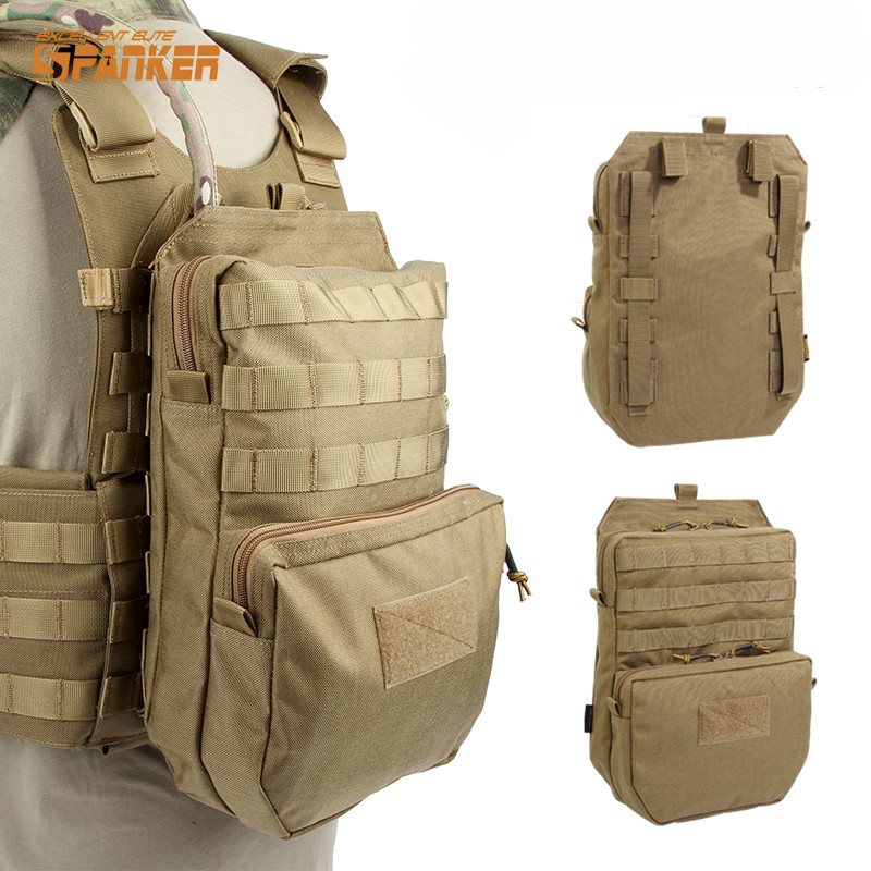 SPANKER 1000D Nylon Tactical Vest Molle Hydration Backpack 3L Outdoor Hunting Fishing Cycling Water Pouch Dump Drop Back Pack jinjuli nylon tactical pouch