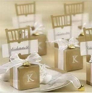 200 шт./лот золото Серебряное кресло бумажные свадебные сувенирные коробки meiguixinyu40 - Цвет: gold