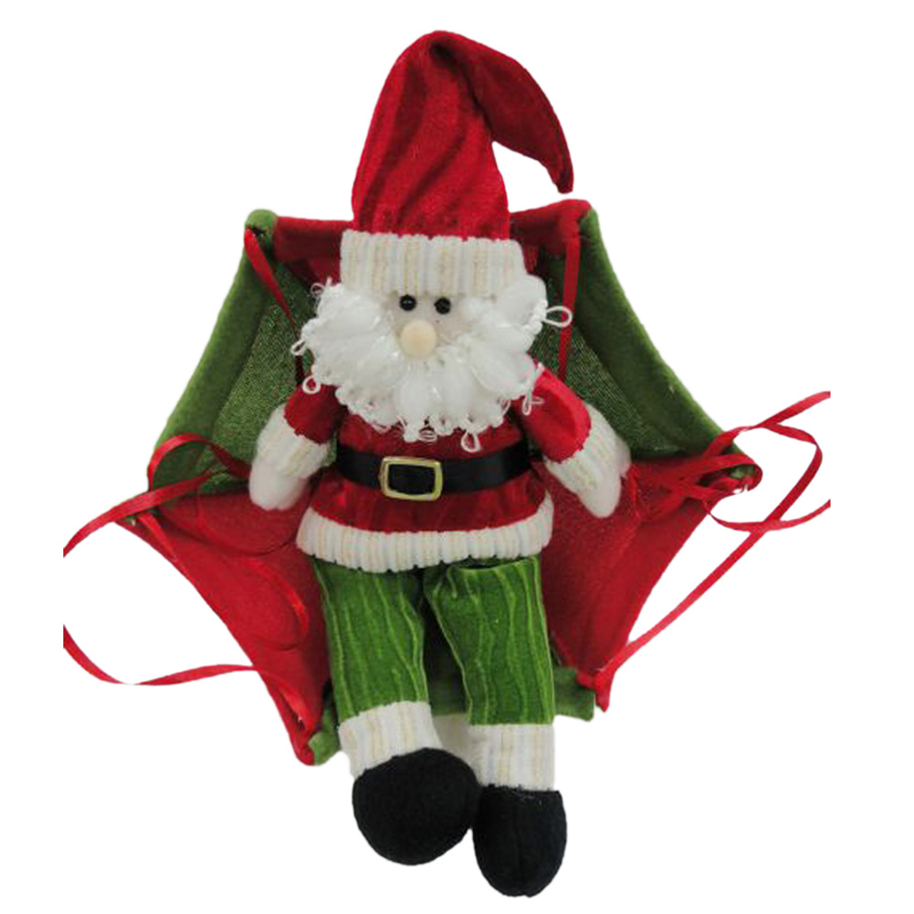 Christmas tree hanging decorations new parachute santa claus snowman - The New Christmas Charm Decorations For Home Parachute Santa Claus Christmas Snowman Ornaments Festival Gift 0013