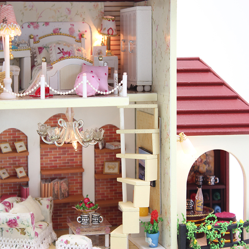 CUTEBEE Doll House Miniature DIY Dollhouse With Furnitures Wooden House  Toys For Children Birthday Gift 3836 In Doll Houses From Toys U0026 Hobbies On  ...