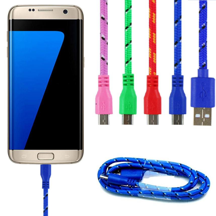Micro USB Cable Nylon 3M Mobile Phone Cabels