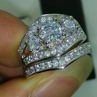 Victoria Wieck Nice 10KT Gold Filled Round Cut White Topaz Diamonique Wedding Ring Sz 5 11