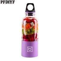500ml Portable USB Electric Fruit Citrus Juicer Vegetable soak Blender Shake Handheld Milkshake Blender Juicer Bottle