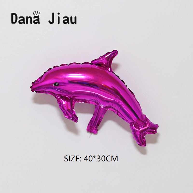 Blue Dolphin ปลาฟอยล์บอลลูน Ocean สัตว์ Helium บอลลูน Mermaid วันเกิดงานแต่งงานตกแต่ง Air Baloons กิจกรรม Ball อุปกรณ์