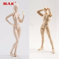 2pcs/lot Chan & Kun Male Female Body Movebale 30 Ponits Action Figure W Hands Model Collections Brinquedos Toys