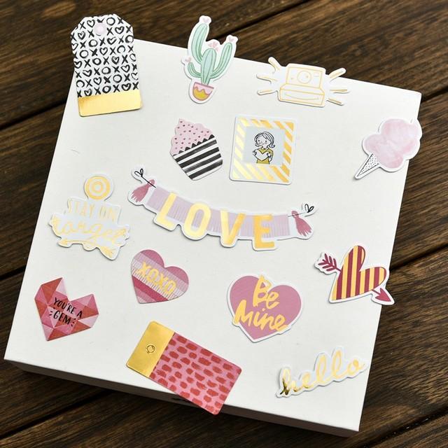 70 Pcs Romantic Scrapbooking Cards