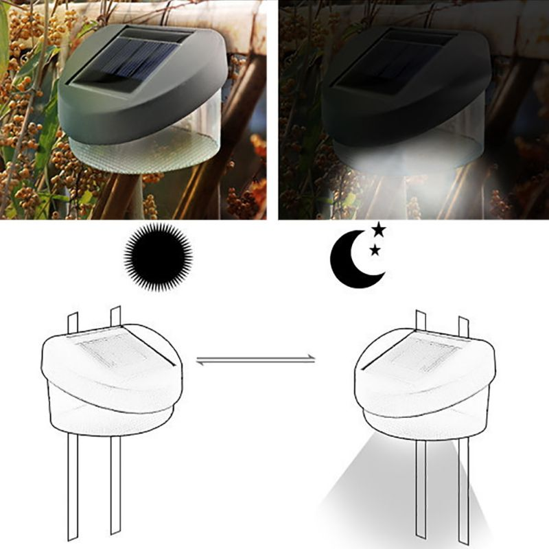 Solar fence light Solar Path Lamp Light Decoration / Courtyard / Wall Lamps 2018 Home & Garden Accessories