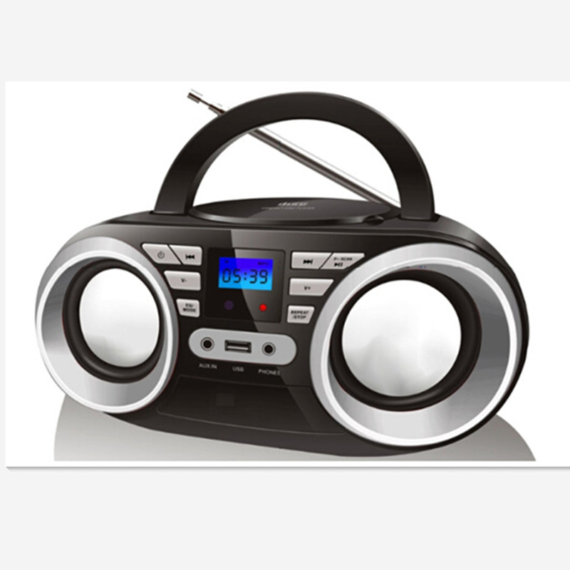 LONPOO 2018 new private design CD boombox with bluetooth and USB slot suitable for home use and those who love absolute music