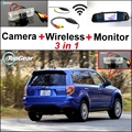 3 in1 Special Rear View Camera + Wireless Receiver + Mirror Monitor Easy DIY Black Up Parking System For Subaru Forester SG SH