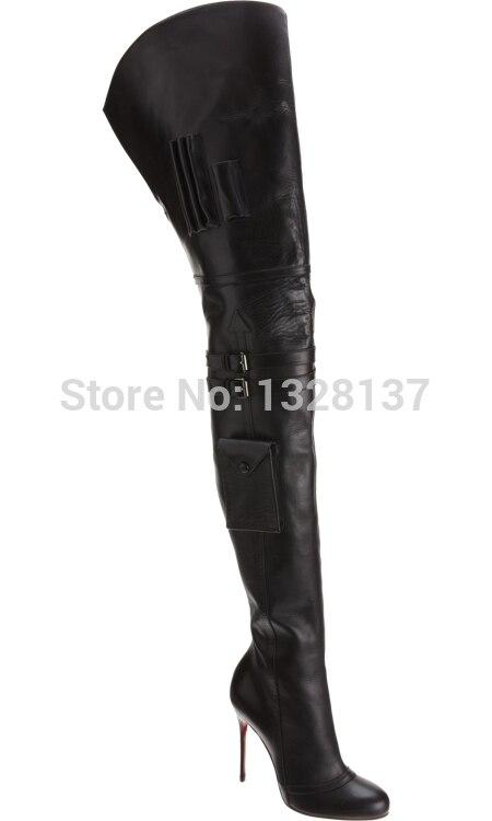 Black Rubber Motorcycle Boots Leather Autumn High Heels Women Boots Shoes Woman sapatos femininos botas femininas botas mujer