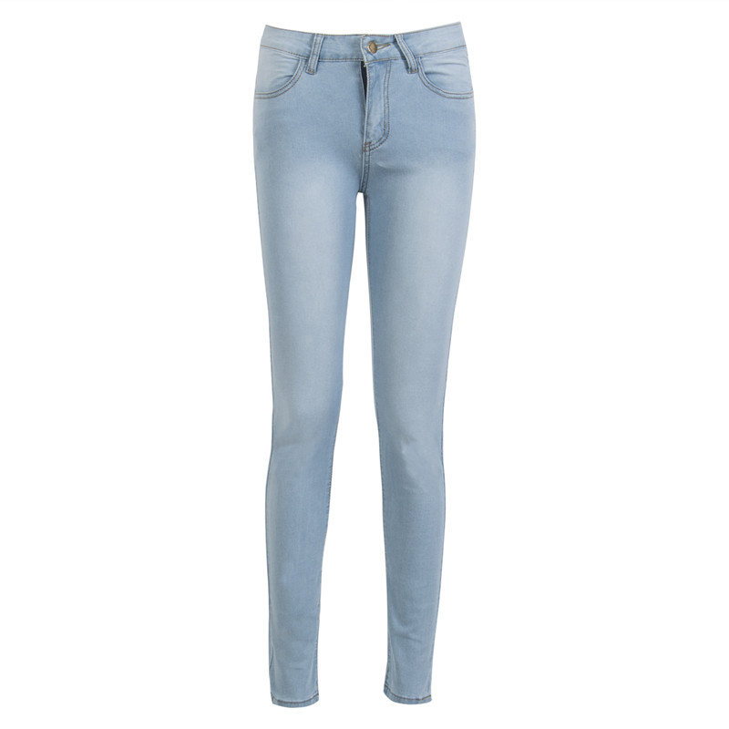 Hirigin Fashion High Street Women Ladies High Waist Light Blue Slim Skinny Jeans Stretch Pencil Denim Long Pants trousers New women jeans autumn new fashion high waisted boyfriend street style roll up bottom casual denim long pants sp2096