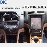 DLC android 6,0 навигационный автомобильный монитор плеер gps зеркальная ссылка Автомобильный Стайлинг аудио руль для Honda accord 7 2004 2008