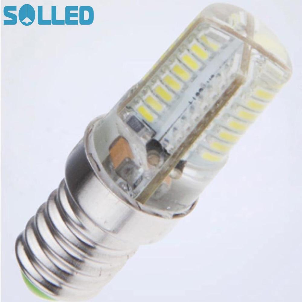 SOLLED High Luminous E14 220V 64LED Spot light 3014 SMD No Flicker LED Corn Bulb With Smart Power IC