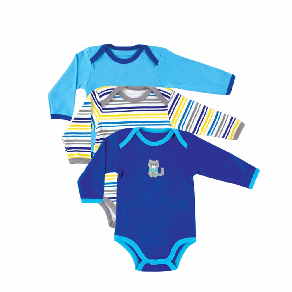 Cheap Price 3 PcsLot Baby Bodysuit Long Sleeve Baby Clothes Winter Infant Overalls Newborn Baby Boy Girl Clothing Set Jumpsuit