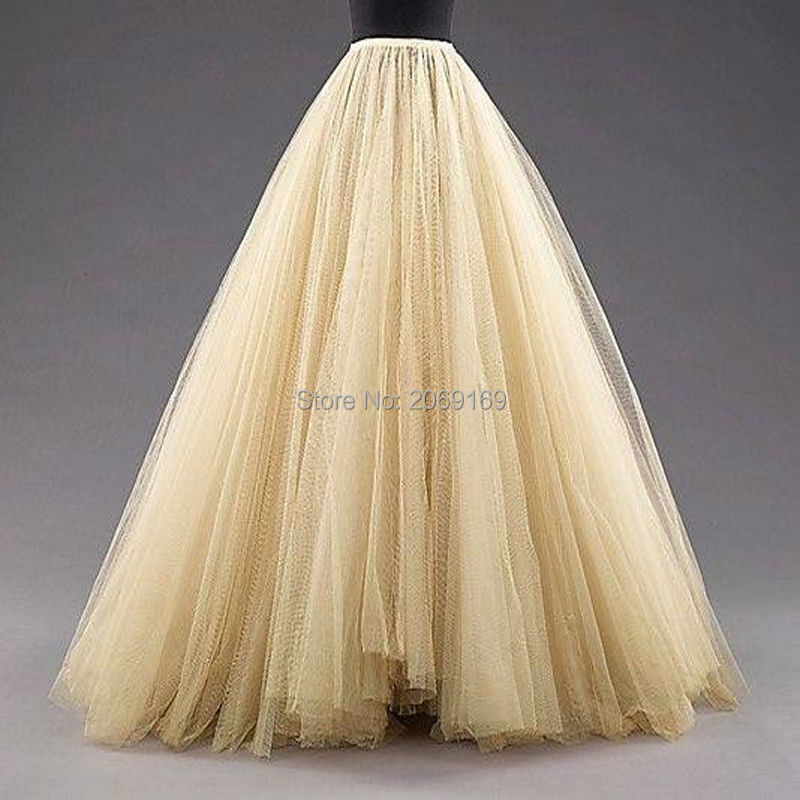 Champagne petticoat for wedding dress tulle women for Tulle petticoat for wedding dress