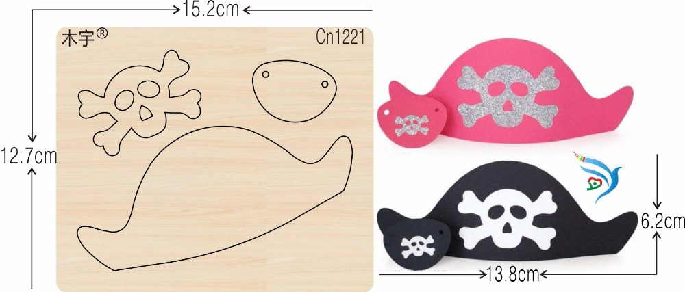 Pirate Hat new wooden mould cutting dies for scrapbooking Thickness 15 8mm