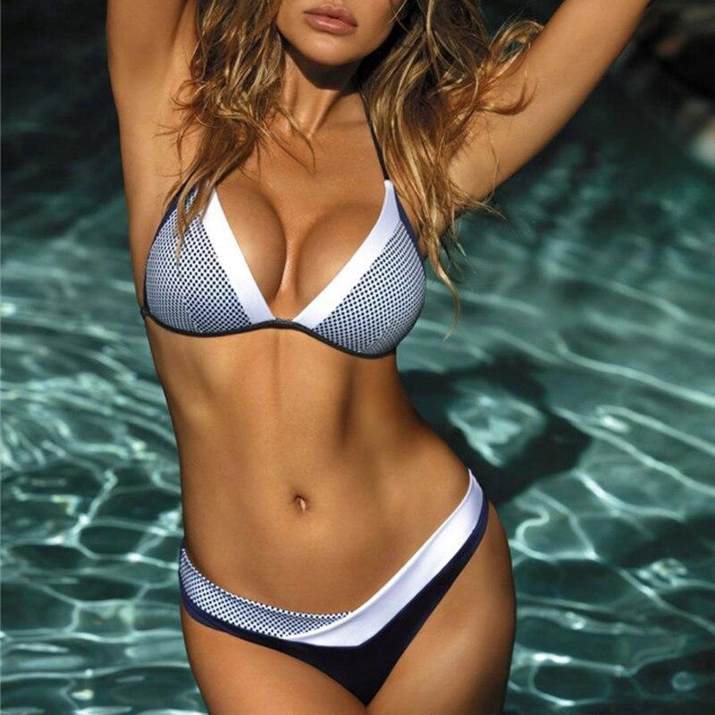 In-X Sexy snakeskin bikini 2019 Push up swimsuit female bathers Micro bikini Triangle swimwear women Halter new bathing suit XL 9