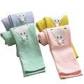 2015 outono nova algodão padrão raposa meninas Leggings Leggings para 2 - 7 ano crianças Leggings