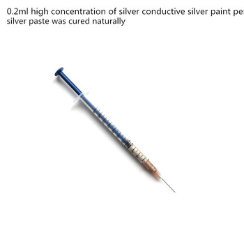 0.2ml high concentration of silver conductive silver paint pen silver paste was cured naturally image