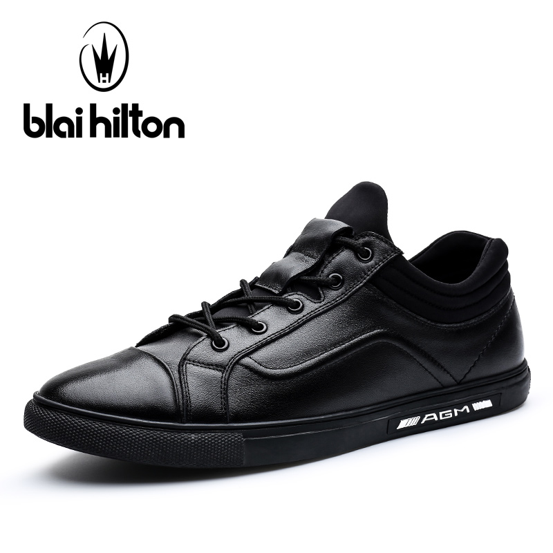 Blaibilton Low Top 100% Luxury Genuine Leather High Quality Patchwork Men Shoes Fashion Mens Shoes Casual Designer Black SD7056 gram epos men casual shoes top quality men high top shoes fashion breathable hip hop shoes men red black white chaussure hommre