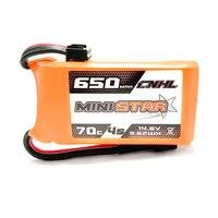 CNHL Mini Stella Serie Lipo Battery 14.8 v 650 mAh Lipo 4 s 70C (MAX 140C) con XT30U Plug RC Batterie per FPV Quadcopter Drone