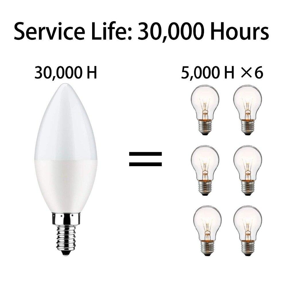 Boaz EC E14 Smart Wifi lED Candle Light Bulb Tuya Smartlife Dimmable bulb Voice Control by Alexa Echo Google Home IFTTT Siri in LED Bulbs Tubes from Lights Lighting