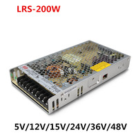 Meanwel Power Supply LRS 200w 12v 5v 15v meanwell 24V 200W Single Output Switching Power Supply 48v