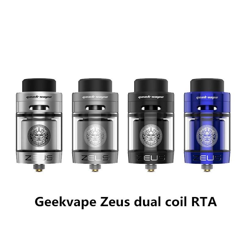D'origine Geekvape Zeus double RTA Zeus RTA Double bobine version 4 ml RTA zeus atomiseur fuite preuve haut flux d'air système E Cigarette