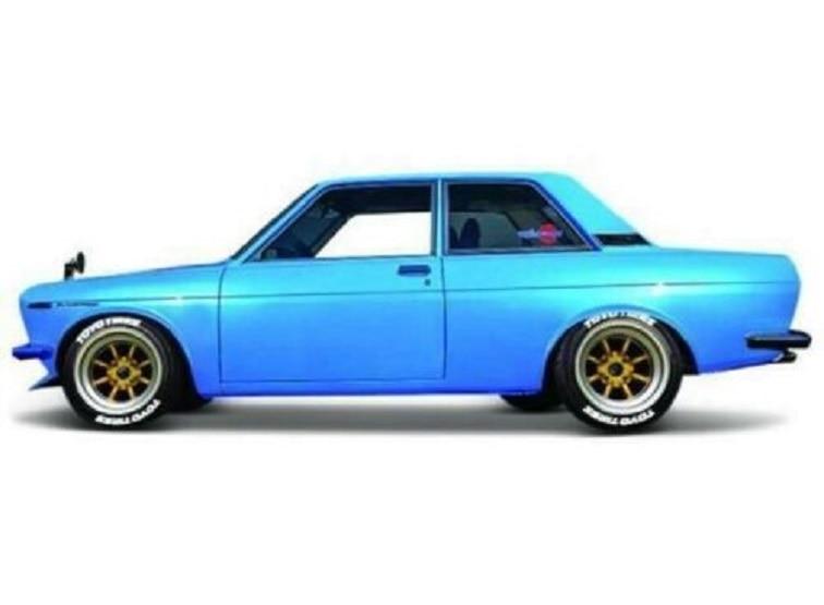 Maisto 1:24 1971 Datsun 510 Blue Diecast Model Racing Car Vehicle Toy NEW IN BOXMaisto 1:24 1971 Datsun 510 Blue Diecast Model Racing Car Vehicle Toy NEW IN BOX