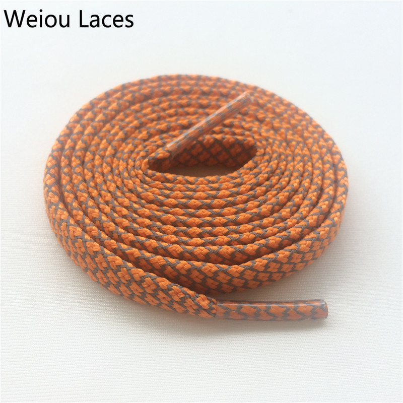 Offical Weiou Flat 3M Reflective Shoelaces Orange Runner Safety Athletic Shoe Laces Latchet Bootlaces For Running Boost 350 750