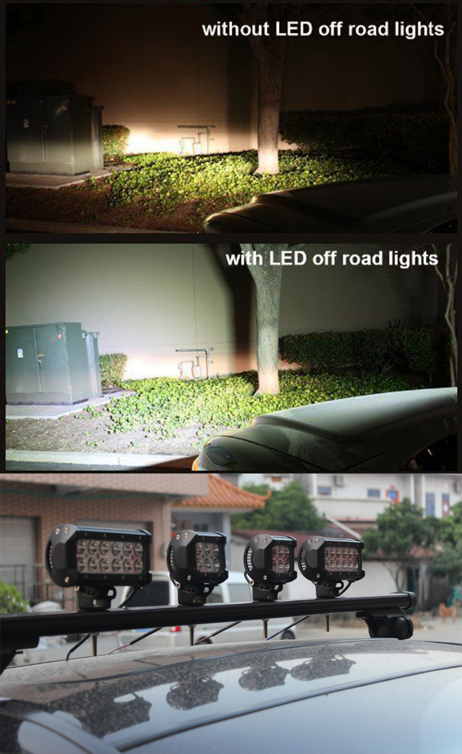 1x Safego 6inch offroad 36w led light bar 4x4 trucks off road led - Car Lights - Photo 6