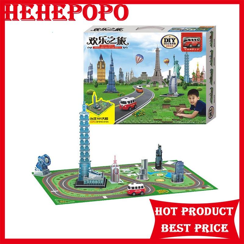 colorful diy Taipei 101 building Model toys tsai chin taipei
