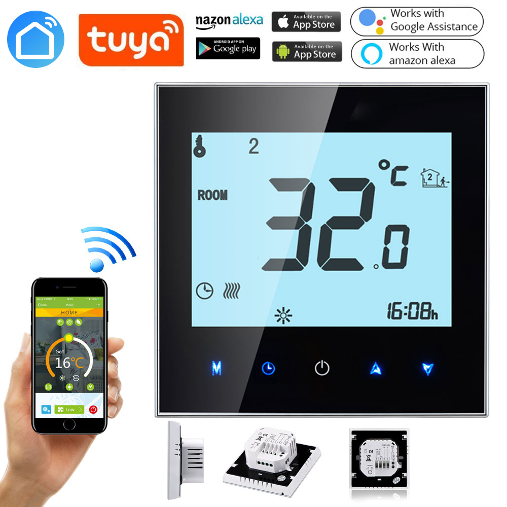 Tuya Smart WIFI Gas Boiler Heating Thermostat Wifi Temperature Regulator For Boilers Weekly Programmable Floor Heating Weekly