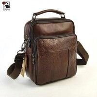 Genuine Leather Bag Top Handle Men Bags Male Shoulder Crossbody Satchel Messenger Small Casual Daily Handbags