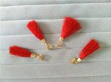 Pendientes de la borla roja del encanto de las mujeres pendientes de viento nacional retro accesorios de vestir trajes ropa accesorios