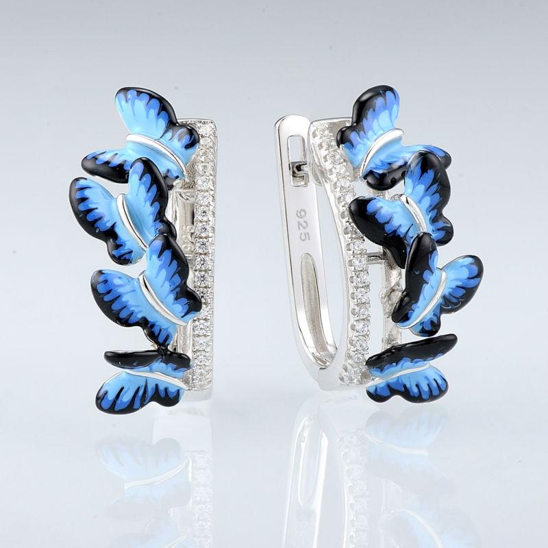 SANTUZZA Silber Ohrringe Für Frauen 925 Sterling Silber Ohrstecker - Modeschmuck - Foto 3