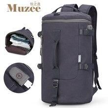 Muzee hohe kapazität reisetasche neue ankunft zylinder paket multifunktions rusksack männlichen mode rucksack